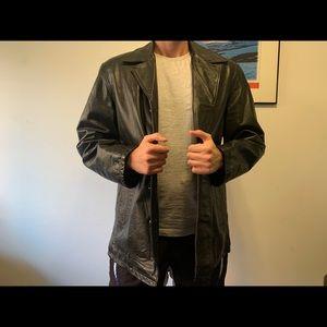 Oakwood classic black leather jacket large